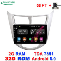 2017 New Funrover 2g 32g Android 6 0 Car Dvd Gps Player 9 Inch For Hyundai