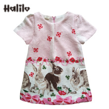 Halilo 5pcs/lot Wholesale Lots Bulk Clothes Girl Dress Summe