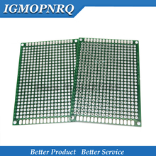10Pcs 5x7 ซม.ใหม่ต้นแบบกระดาษ PCB ทองแดงวงจรการทดลอง Universal 5*7 ซม.