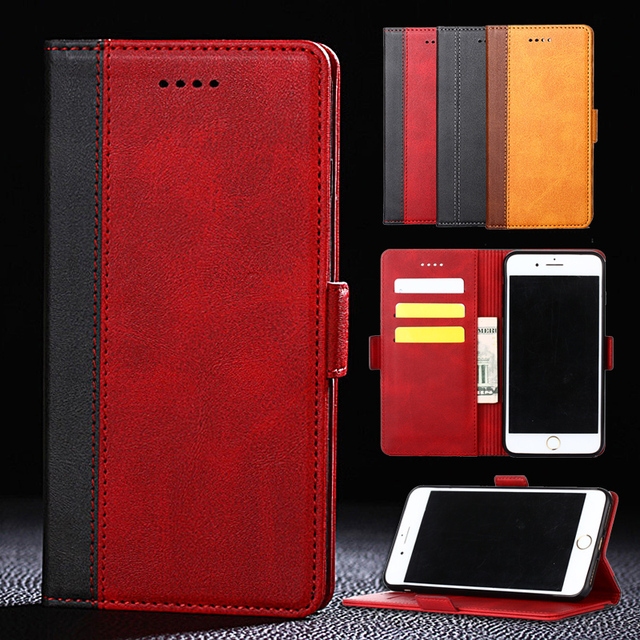PU Leather Flip Phone Case For OPPO R17 R15 Pro R11 R11S R9 R9S A83 A79 A73 A73S A59 A57 A39 A37 K1 Realme 1 Wallet Stand Cover