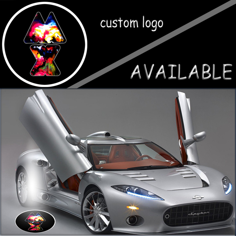 Pair 12V Auto Door Courtesy LED Welcome Light Projector Shadow Laser Ghost Lamp For Logo Dazzle MX #2144 kicx pdn 5 2