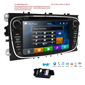 HIZPO Car Multimedia Player GPS 2 Din car dvd player for FORD/Focus/S-MAX/Mondeo/C-MAX/Galaxy wifi car radio RDS SWC DAB+ CAMERA image