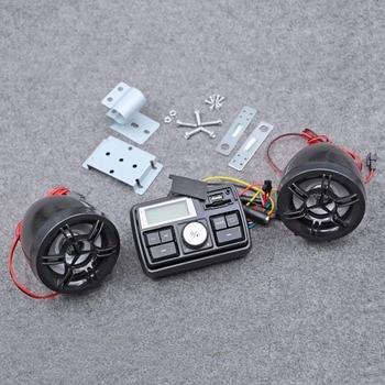 Bluetooth 12 V manillar de la motocicleta sistema de Audio USB SD FM Radio Estéreo MP3 altavoces para iPod con el control remoto