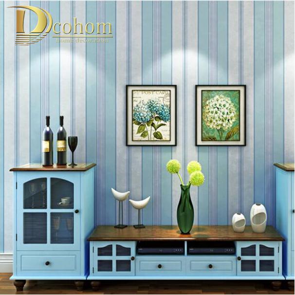 online get cheap streifen tapete blau -aliexpress.com | alibaba group - Tapete Blau Schlafzimmer