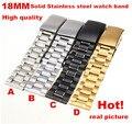 Alta qualidade 1 PCS 18 MM 20 MM 22 MM 24 MM Sólido Aço Inoxidável Assista pulseira de Relógio banda 4 cores disponíveis-123101