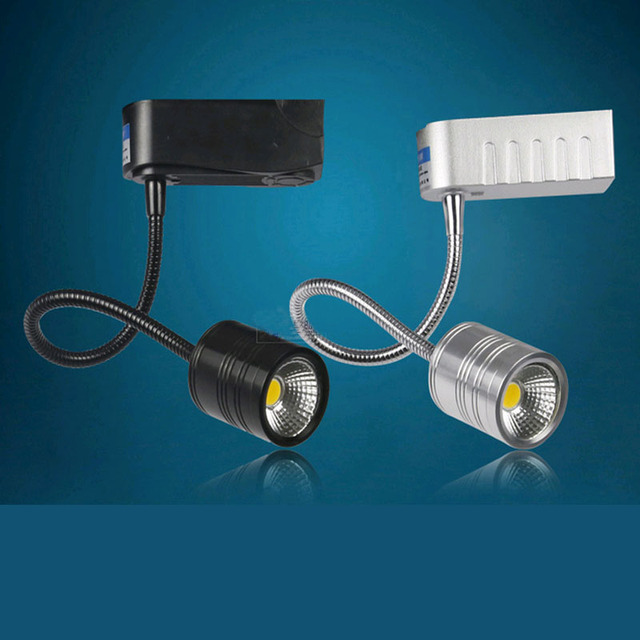 5w cob led ceiling track rail light spotlight lamp display cabinet