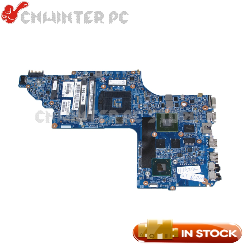 NOKOTION For Hp pavilion DV7-7000 Laptop motherboard 682040-001 682040-501 48.4ST06.021 HM77 GT650M Video Card DDR3 nokotion 682040 501 682040 001 for hp pavilion dv7 dv7t dv7 7000 laptop motherboard 17 inch hm77 ddr3 gt650m 2gb video card