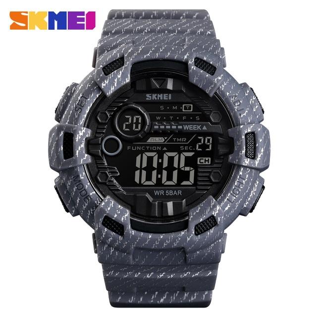 SKMEI Fashion Sport Watch Men Alarm Clock Cowboy Waterproof Week Display Men Watches Denim Digital Watch relogio masculino 1472  