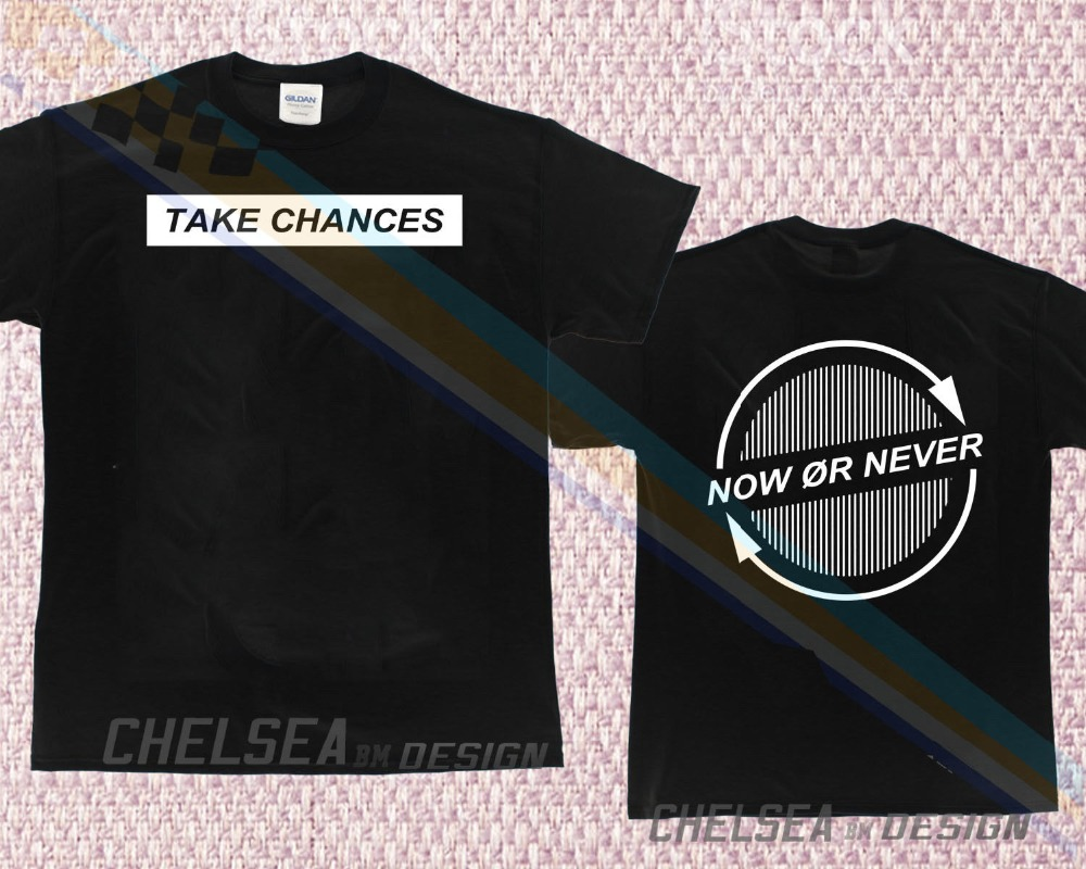 Limited Edition Youtube JakePaul Colby Brock Take Chances Signature T-shirt 1 monochrome
