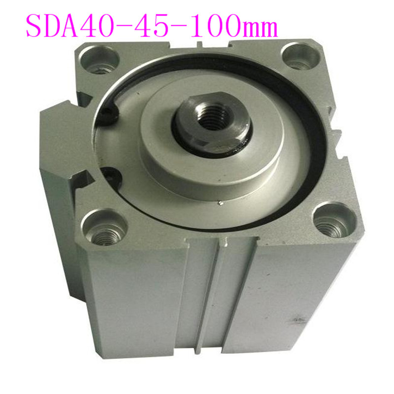 SDA40 Cylinder Compact SDA Series Bore 40mm Stroke 40-100mm Compact Air Cylinders Dual Action Air Pneumatic Cylinders