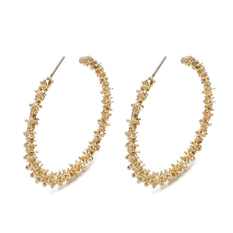 127 Big Hoop Earrings for Women 2019 Vintage Gold Color Round Fashion Statement Earrings 2018 Female Accessories Jewellery