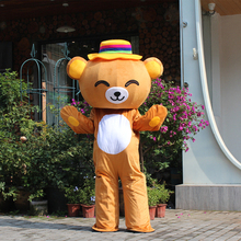 Smart Cute Bear Mascot Costume Janpan Rilakkuma Halloween Party Dress for Christmas Cosplay Costumes Carnival