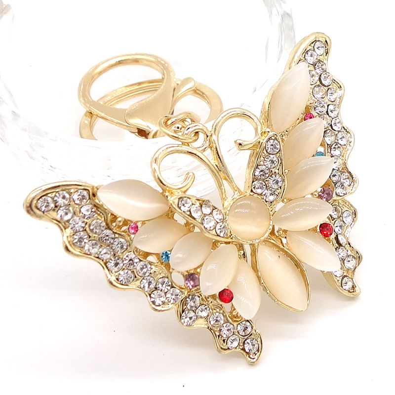 все цены на Key Ring Purse Bag butterfly Rhinestone Keyring Keychain charm Pendant Gift #15