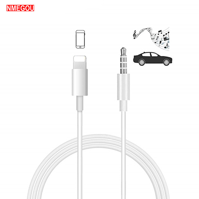 best sneakers a285c bc6f0 US $4.24 15% OFF|Lighting To 3.5mm Jack Aux Audio Cable Auxiliary Stereo  Cord for Apple IPhone XS Max XR 7 Plus 8 X 10 6 6S Headphone Car Speaker on  ...