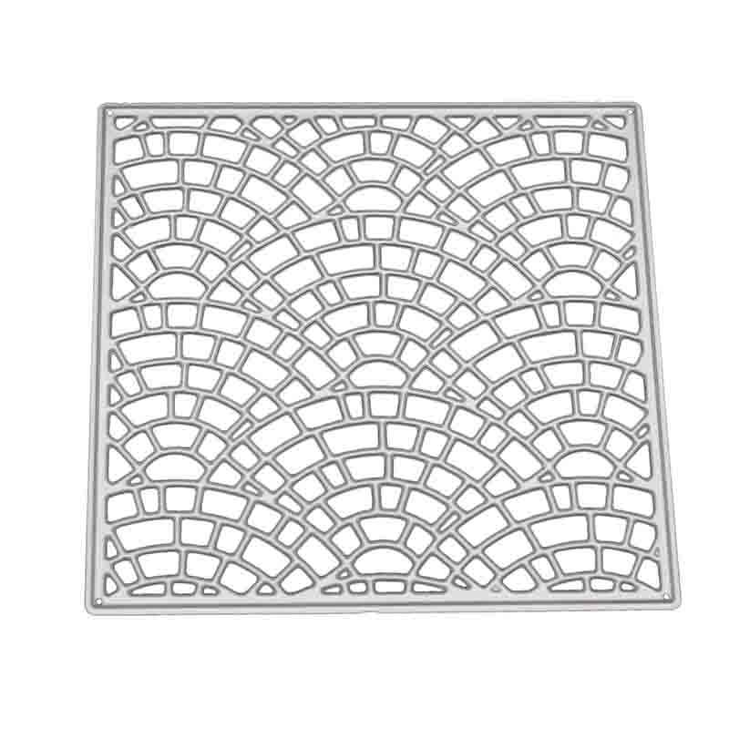 Sector Grid Metal Frame Cutting Dies Stencils for DIY Scrapbooking Photo album Decorative Embossing Cards Cutting Dies New 2018