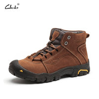 Club High Quality Genuine Leather Boots Men Winter Shoes Warm Plush Men Boots Anti Skidding Winter