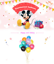 30pc DISNEY Mickey Mouse Party Pearlescent balloon decarations for baby shower kids toys