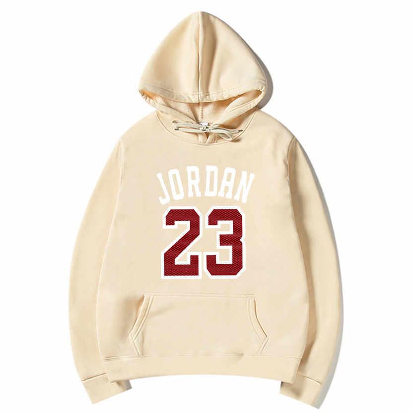 2019 브랜드 남성 힙합 긴 소매 요르단 23 후드 티 셔츠 남성 후드 트랙 슈트 스웨터 코트 캐주얼 스포츠웨어 후드