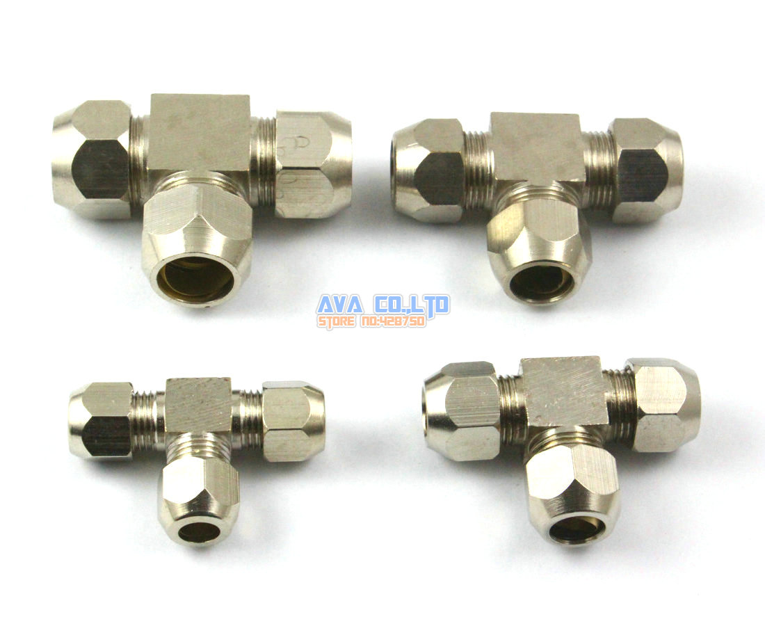 Pieces brass bsp way fitting fuel air gas water