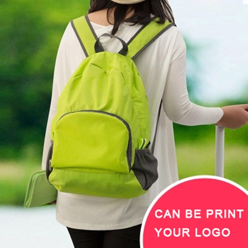 IUX újrafelhasználható összecsukható fogantyú hátizsák Nylon hátizsák vízálló és összecsukható utazó nők férfiak válltáskák