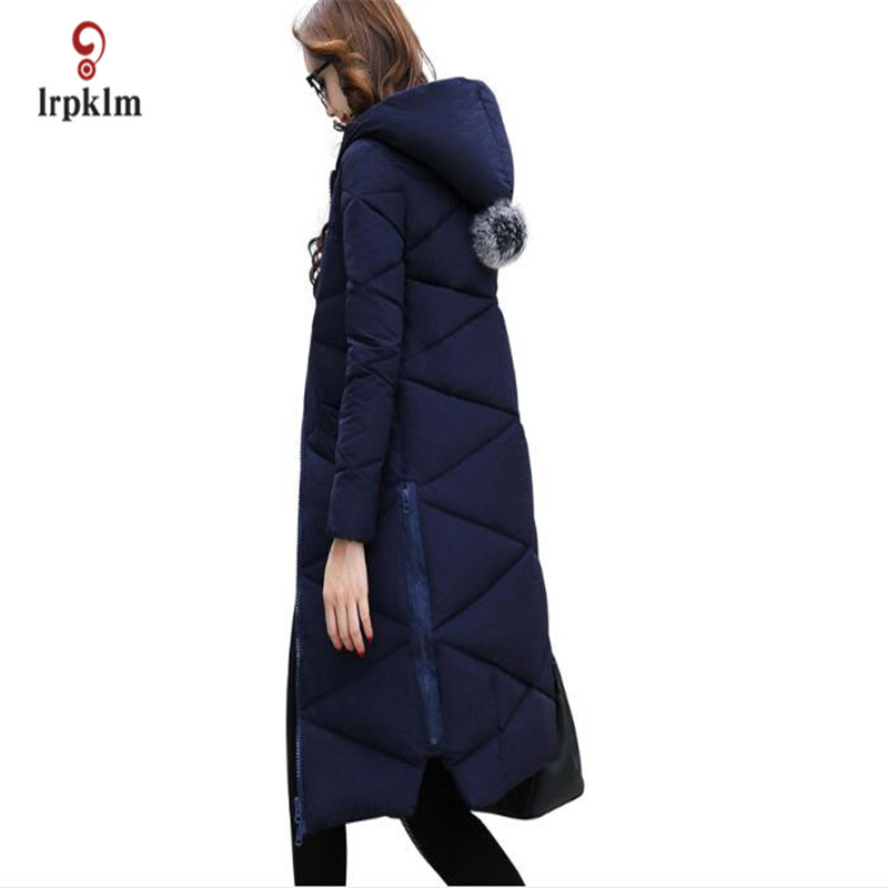 цены 2017 New Plus Size 5XL Female Long Winter Parkas Thick Women Hooded Collar  Cotton Padded Coat Fashion Slim Outerwear PQ011