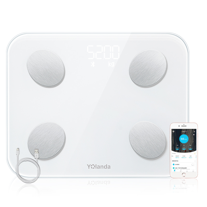 Original Digital Smart Body Fat Weight Scales Household Electionic Mi Waage Bathroom Weighting Scale USB Charging Bluetooth 4.0