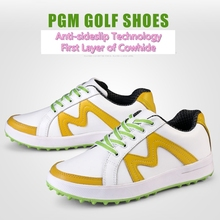 Brand PGM Adult Ladies Women Genuine Leather Golf Sports Shoes Light & Steady & Breathable & Waterproof. Come with a shoes bag
