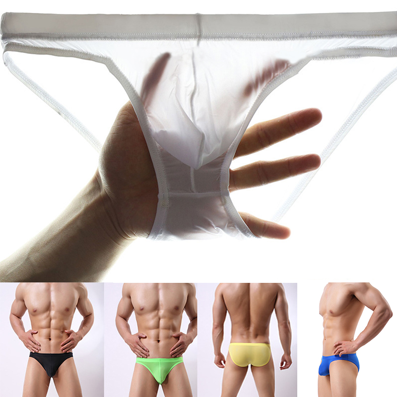 Breathable Mens Briefs Underwear Seamless Underpants Ice Bulge Panty Silk