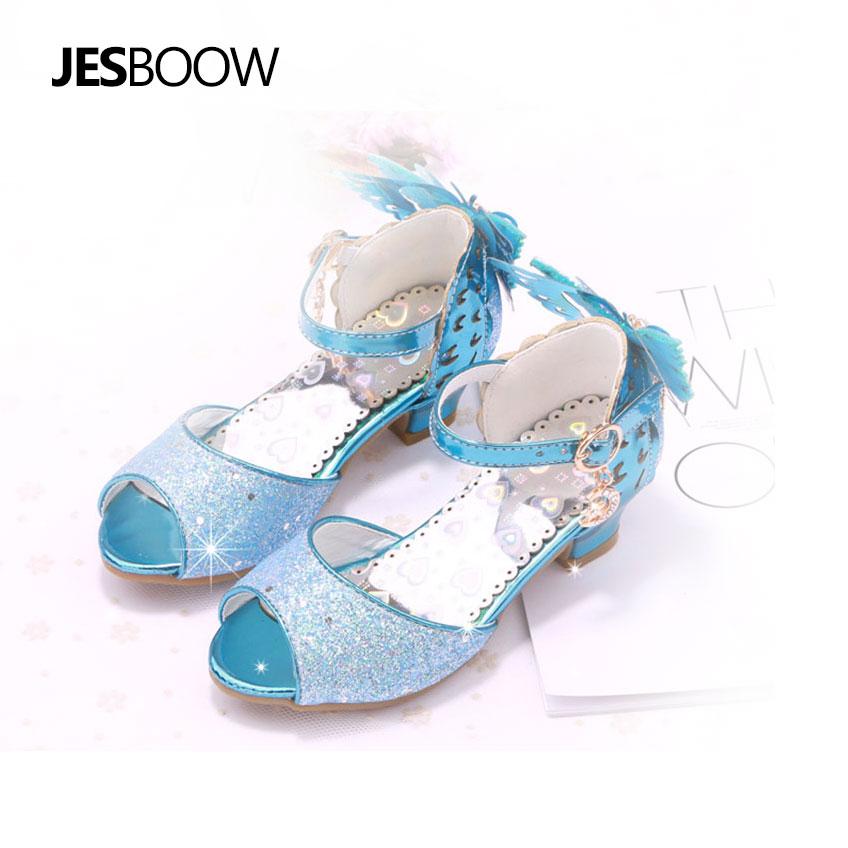 Maluch Little Girls Low Heel Sandały Cekiny Butterfly Strap Princess - Obuwie dziecięce - Zdjęcie 4