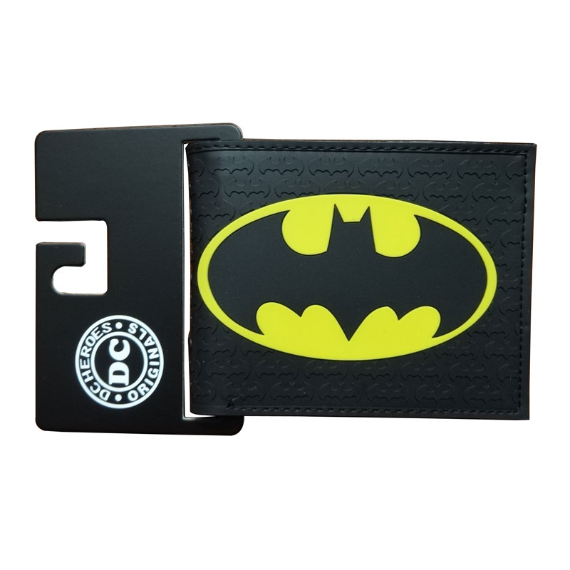 Comics DC Marvel The Avengers Wallets Captain America Iron Man Purse Simpson Spiderman Superman Batman Leather PVC Anime Wallet mars attacks