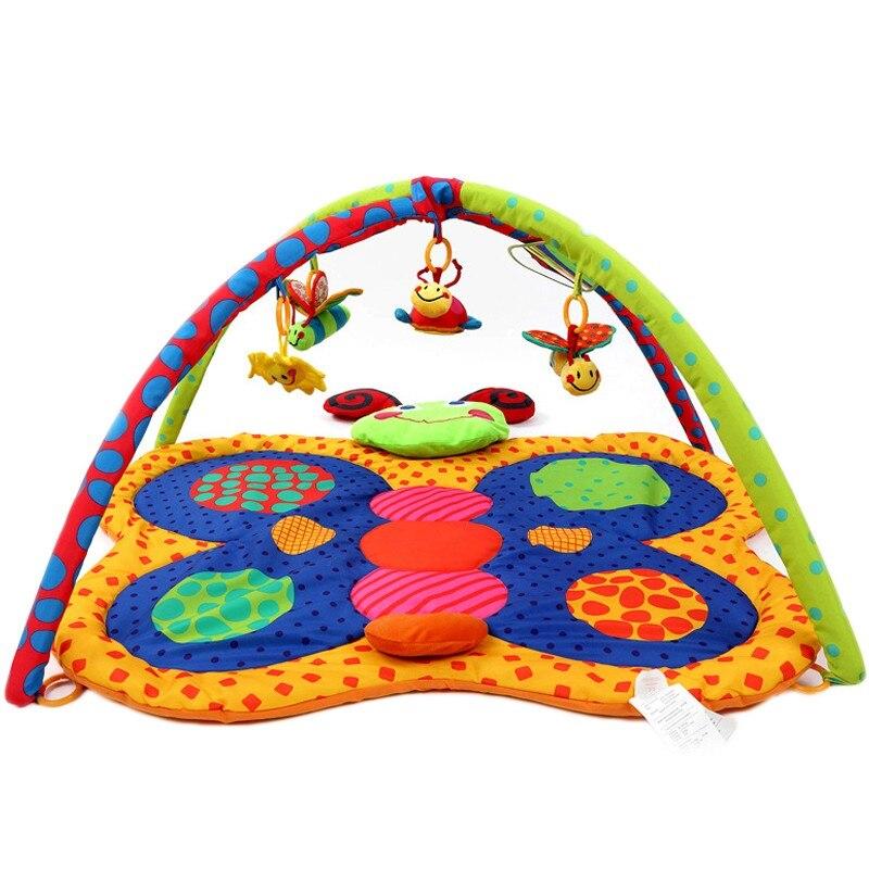 Fun papillon coloré bébé jouer tapis 0-2 ans bébé bambin sport ramper tampons éducatifs jouer Gym couverture chaud bébé jouet