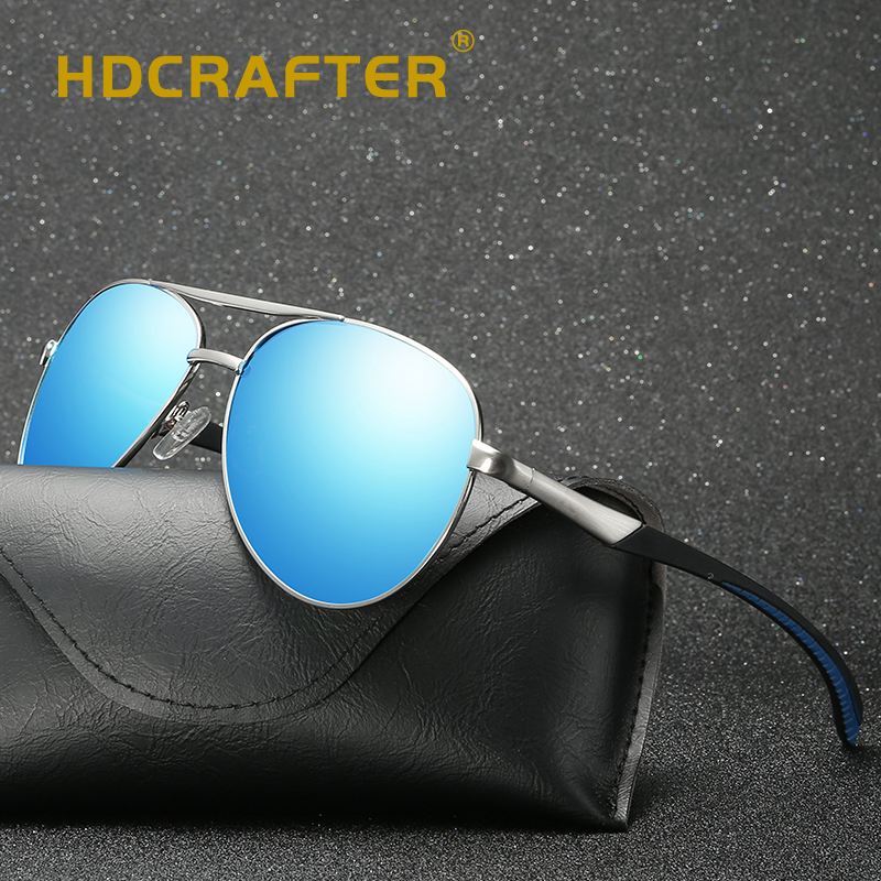 HDCRAFTER Classic Men Polarized Sunglasses Polaroid Driving Pilot Sunglasses Man Eyewear Sun Glasses UV400 High Quality