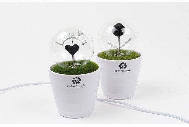 Romanticismo del desktop decorazione lampada da tavolo con stile