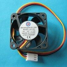 2 шт. Бесщеточный вентилятор охлаждения постоянного тока 5 В 4010 S 7 лопастей 3 провода 40x40x10 мм