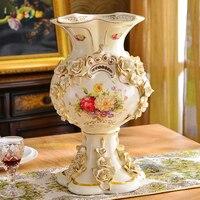 style luxury decoration vase small living room decoration Jingdezhen Home Furnishing large ceramic vase Garden