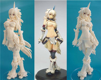 GK GARAGE KIT Monster Hunter Unicorn sexy girl white model 1/4 GK resin model doll sexy Action Figure Collection Model Toys
