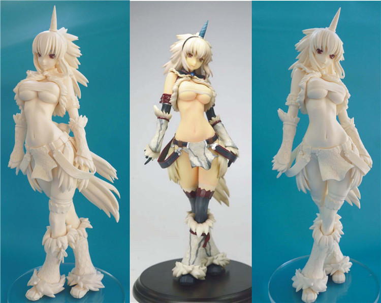 GK GARAGE KIT Monster Hunter Unicorn <font><b>sexy</b></font> girl white model <font><b>1/4</b></font> GK resin model doll <font><b>sexy</b></font> Action <font><b>Figure</b></font> Collection Model Toys image