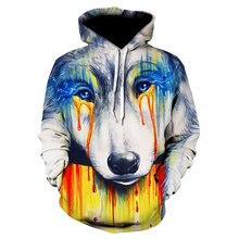 2019 fashion men's/women's 3D sweatshirts with tearwolf prin