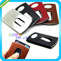 New Fashion Stainless steel Thumb Slide Out Card Case credit card holder business id porte carte credit Card Stock