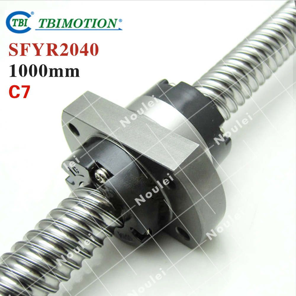TBI 2040 miniature ball screw 20mm dia 40mm lead 1000mm with ballnut SFY2040 for DIY CNC parts винт tbi sfkr 0802t3d