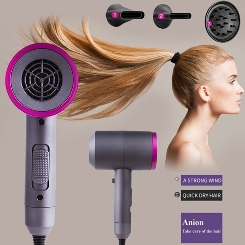 2019 Fashion Domestic Thermostatic and Hot Air Blower High End Negative Ion Hair Dryer Hair Dryer