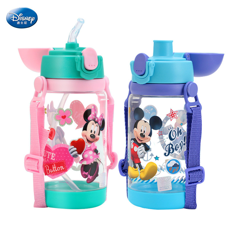 520 Ml Disney  Minnie Mickey Mouse Feeding Cup Cars Bottle With Straw  Bottle Cup