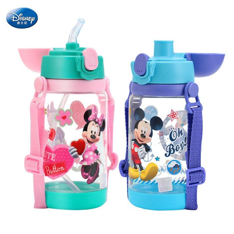 520 ml Disney Minnie Mickey Maus fütterung tasse autos flasche mit Stroh Flasche tasse