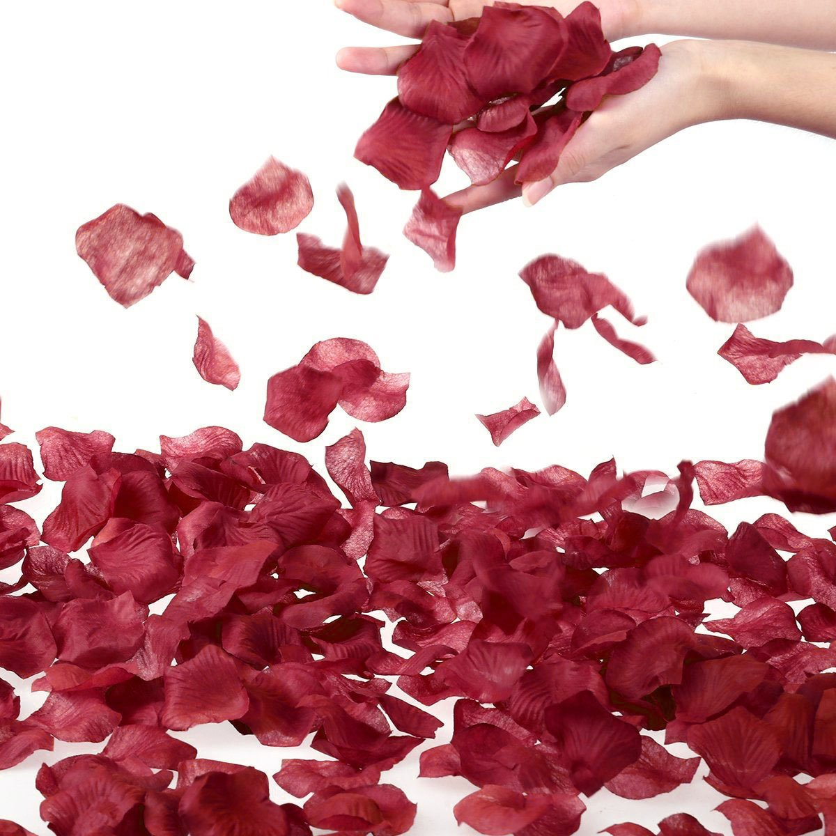 1000 PCS Burgundy Maroon Artificial Flower Petals For