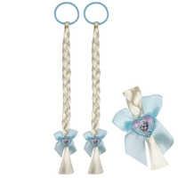 2PCS Elsa Braid Wigs Birthday Gifts For Girls Kids Cosplay Party Princess Braiding Hair Beauty Fashion Toys