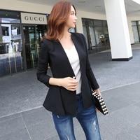 Dabuwawa Black Autumn Vintage Slim Blazer feminino Coat Ladies Blazers Work Wear