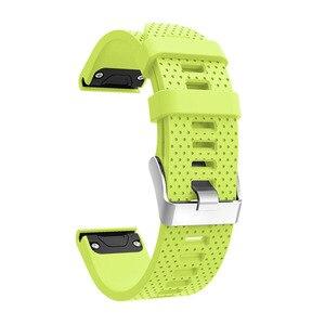 Image 5 - Correa de reloj de 20mm para Garmin Fenix 5S, correa de silicona de liberación rápida, ajuste fácil, correa de muñeca para Garmin Fenix 5S/5S Plus