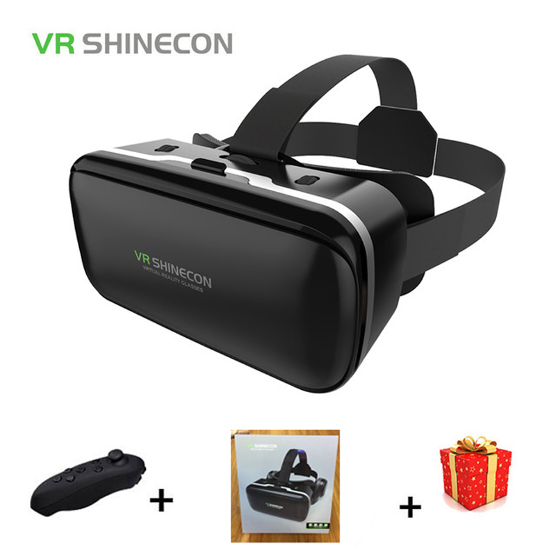 Stereo Shinecon Casque VR Virtual Reality Glasses 3 D 3d Goggles Headset Helmet For Smartphone Smart Phone Cardboard Google vr shinecon headset virtual reality 3d glasses for iphone for samsung for other brand phones smart phones with 4 6 inches screen