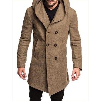 ZOGAA 2019 mode hommes Trench manteau veste printemps automne hommes pardessus décontracté solide couleur laine Trench manteau pour hommes vêtements