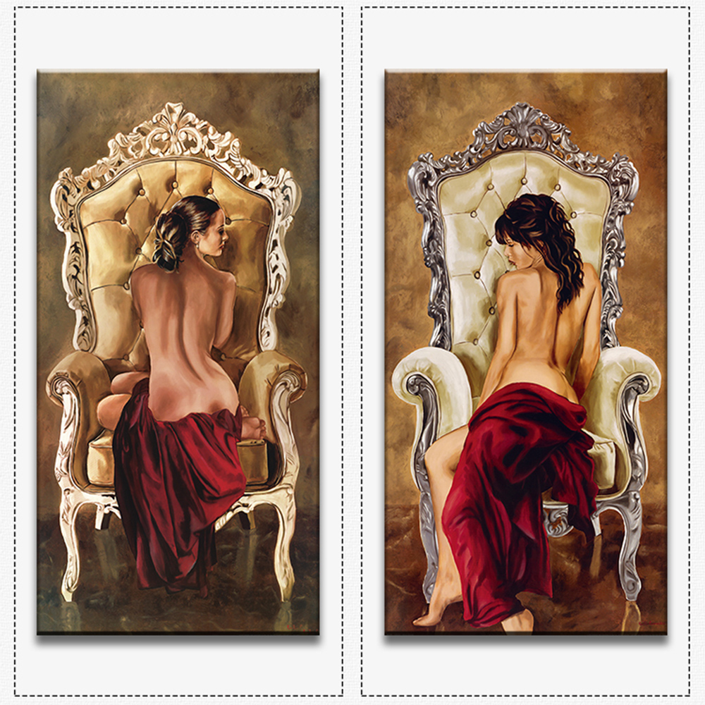 Hot sells 2panels one set Painting Canvas Living Room sexy women wall art Home Decoration Modern oil Painting printed